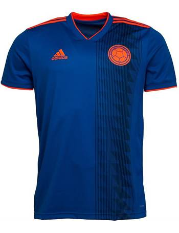 4768be50c Adidas. Mens FCF Colombia Away Shirt Bold Blue Solar Red