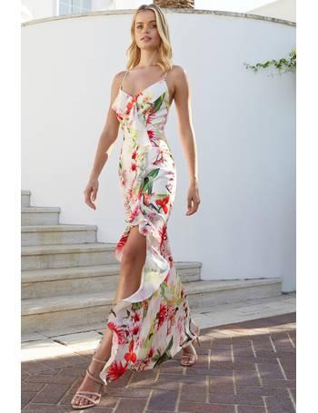 b1bbb1c862 Lipsy. Petite Amy Print Ruffle Cross Back Maxi Dress