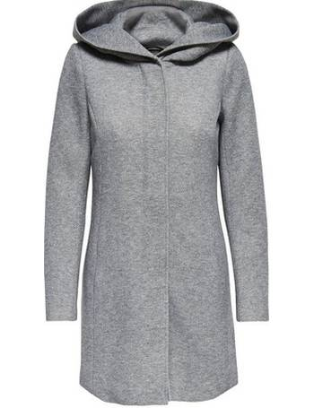 2c9e6f54e Womens Only Grey Hooded Coat- Grey