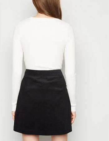 New Womens Ladies  Parisian Black Leather Look PU Vinyl Zip Front Mini Skirt