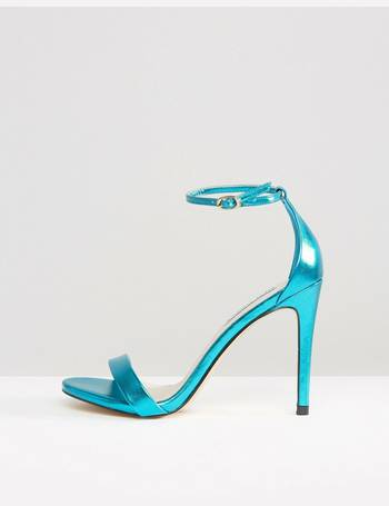 df3a4e0e164 Stecy Metallic Blue Barely There Heeled Sandals