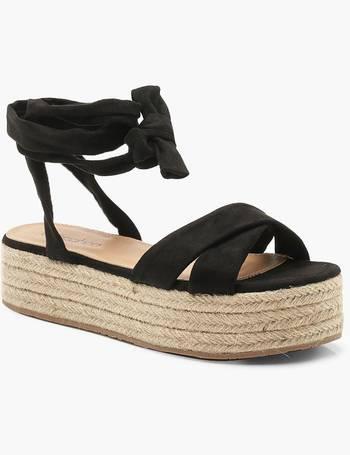 b2084591806 Wrap Strap Espadrille Flatform Sandals