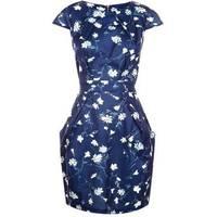 Women's Blue Vanilla Floral Dresses