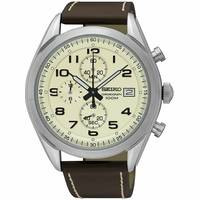 Seiko Men's Leather Watches