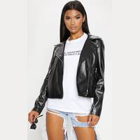 Womens Leather Biker Jackets from Pretty Little Thing