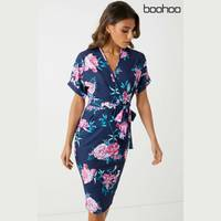 Floral Midi Dress from Boohoo
