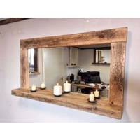 Mirrors with shelf