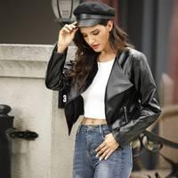 Womens Leather Biker Jackets from SHEIN