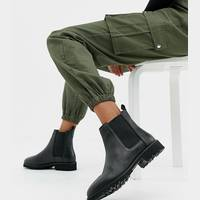 Women's Leather Boots from ASOS DESIGN