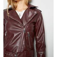 Womens Leather Biker Jackets from New Look