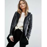 Womens Leather Biker Jacket From ASOS