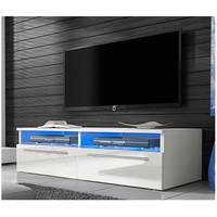 ManoMano UK White High Gloss TV Units